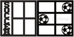 Soccer - Scrapbook Page Overlay Set - Choose a Color
