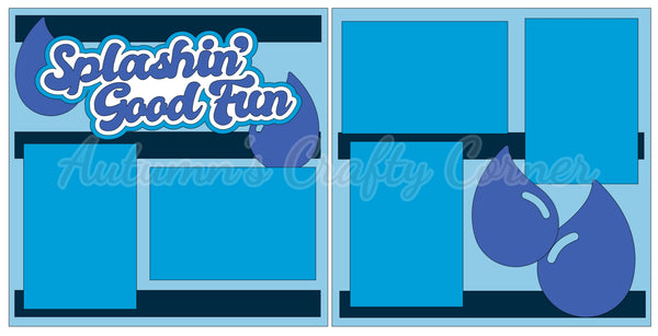 Splashin' Good Fun - Scrapbook Page Kit