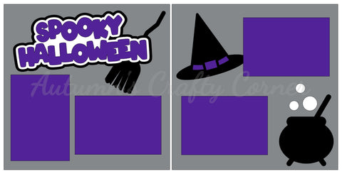 Spooky Halloween - Scrapbook Page Kit