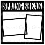 Spring Break - 2 Frames - Scrapbook Page Overlay Die Cut - Choose a Color