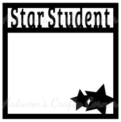 Star Student - Scrapbook Page Overlay Die Cut - Choose a Color