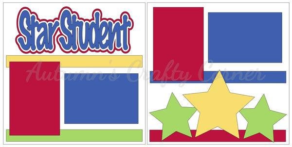 Star Student - Scrapbook Page Kit