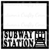 Subway Station - Scrapbook Page Overlay Die Cut - Choose a Color