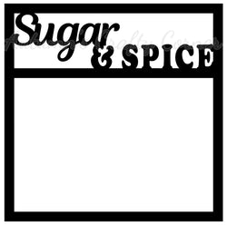 Sugar & Spice - Scrapbook Page Overlay Die Cut - Choose a Color