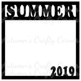 Summer 2019 - Scrapbook Page Overlay Die Cut - Choose a Color