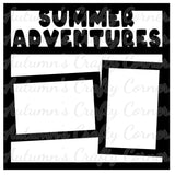 Summer Adventures- 2 Frames - Scrapbook Page Overlay Die Cut - Choose a Color