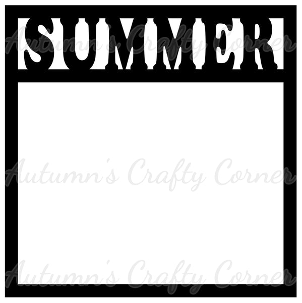Summer - Scrapbook Page Overlay Die Cut - Choose a Color
