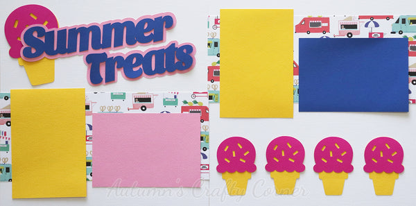 Summer Treats - Scrapbook Page Kit