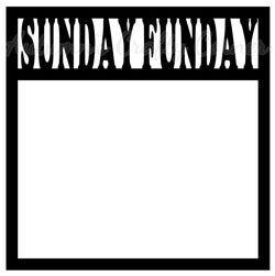 Sunday Funday Scrapbook Page Overlay Die Cut - Choose a Color