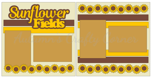 Sunflower Fields - Scrapbook Page Kit