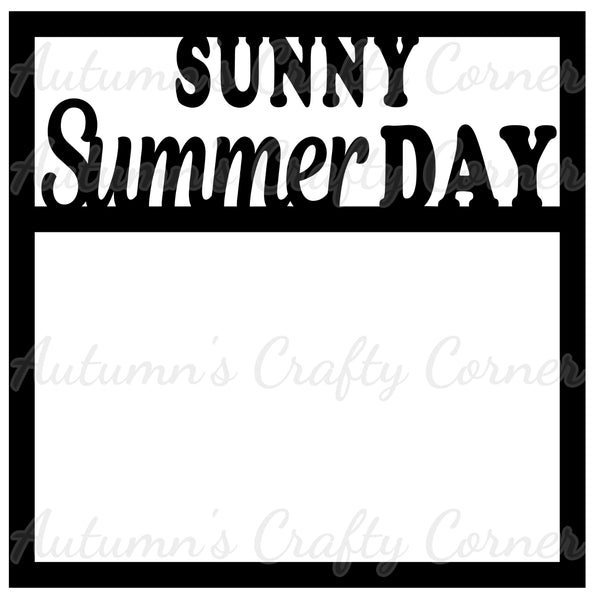 Sunny Summer Day - Scrapbook Page Overlay Die Cut - Choose a Color