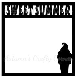 Sweet Summer - Scrapbook Page Overlay Die Cut - Choose a Color