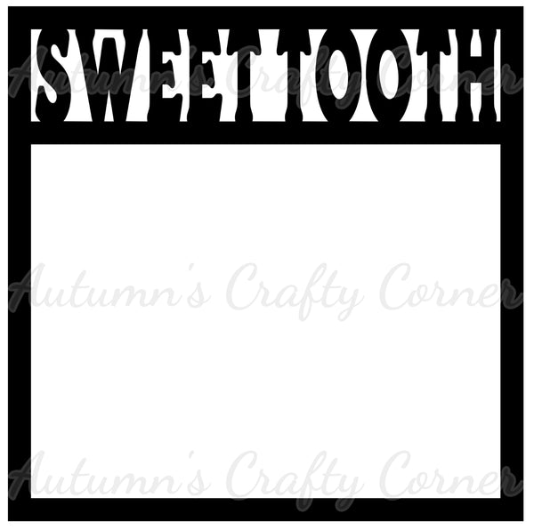 Sweet Tooth - Scrapbook Page Overlay Die Cut - Choose a Color
