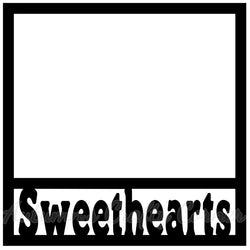 Sweethearts - Scrapbook Page Overlay Die Cut - Choose a Color