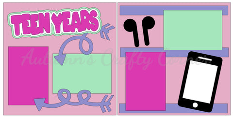 Teen Years - Girl - Scrapbook Page Kit