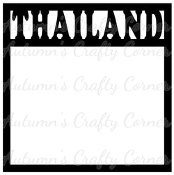 Thailand - Scrapbook Page Overlay Die Cut - Choose a Color