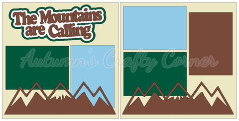 The Mountains are Calling - Scrapbook Page Kit