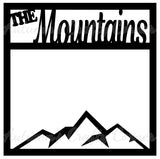 The Mountains - Scrapbook Page Overlay Die Cut - Choose a Color