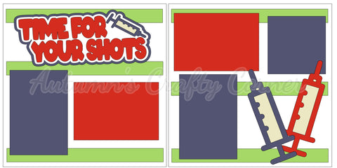 Time for Your Shots - Boy - Scrapbook Page Kit