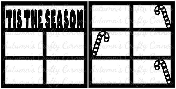 Tis the Season - Scrapbook Page Overlay Set - Choose a Color