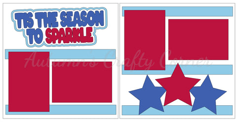 Tis the Season to Sparkle - 4th of July - Scrapbook Page Kit