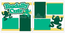 Toadally Cute - Boy - Scrapbook Page Kit