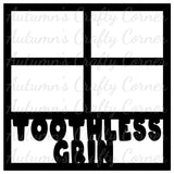 Toothless Grin - 4 Frames - Scrapbook Page Overlay Die Cut - Choose a Color