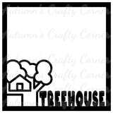 Treehouse - Scrapbook Page Overlay Die Cut - Choose a Color
