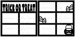 Trick or Treat - Scrapbook Page Overlay Set - Choose a Color