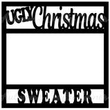 Ugly Christmas Sweater - Scrapbook Page Overlay Die Cut - Choose a Color