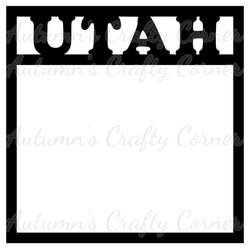 Utah - Scrapbook Page Overlay Die Cut - Choose a Color