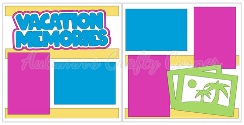 Vacation Memories  - Scrapbook Page Kit