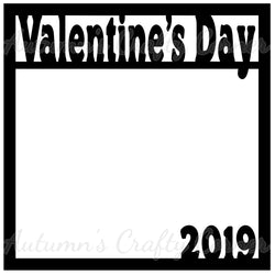 Valentine's Day 2019 - Scrapbook Page Overlay Die Cut - Choose a Color