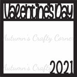 Valentine's Day 2021 - Scrapbook Page Overlay Die Cut - Choose a Color