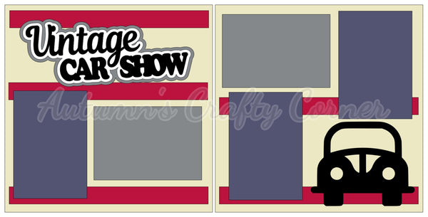 Vintage Car Show - Scrapbook Page Kit