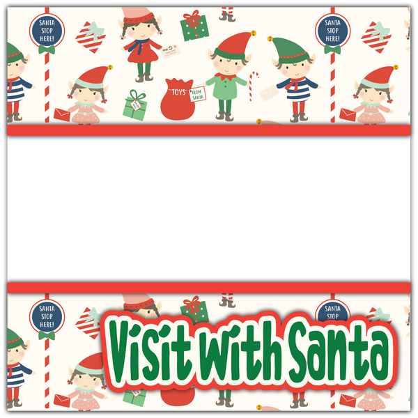 Visit with Santa - Printed Premade Scrapbook Page 12x12 Layout