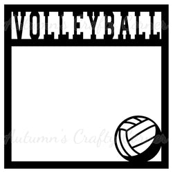 Volleyball - Scrapbook Page Overlay Die Cut - Choose a Color