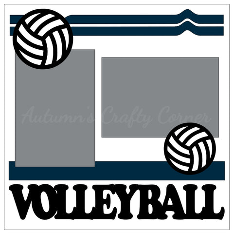 Volleyball - Single Scrapbook Page Kit