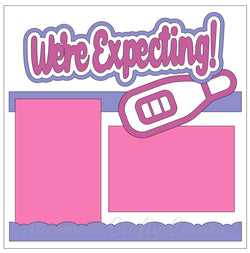 We're Expecting - Single Scrapbook Page Kit