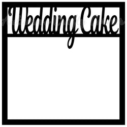 Wedding Cake - Scrapbook Page Overlay Die Cut - Choose a Color