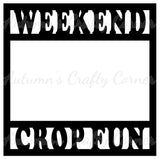 Weekend Crop Fun - Scrapbook Page Overlay Die Cut - Choose a Color