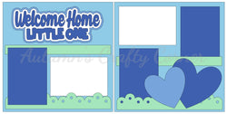 Welcome Little One - Baby Boy - Scrapbook Page Kit