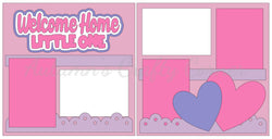 Welcome Home Little One - Baby Girl - Scrapbook Page Kit