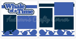 Whale of a Time - Scrapbook Page Kit