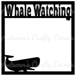 Whale Watching - Scrapbook Page Overlay Die Cut - Choose a Color