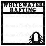 Whitewater Rafting - Scrapbook Page Overlay Die Cut - Choose a Color