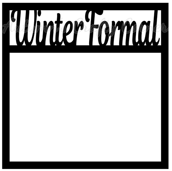 Winter Formal - Scrapbook Page Overlay Die Cut - Choose a Color