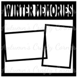 Winter Memories - 2 Frames - Scrapbook Page Overlay Die Cut - Choose a Color