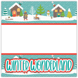 Winter Wonderland - Printed Premade Scrapbook Page 12x12 Layout