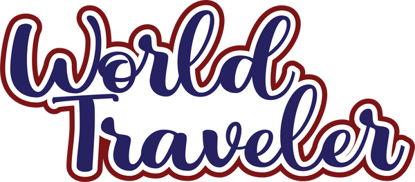 World Traveler - Scrapbook Page Title Sticker
